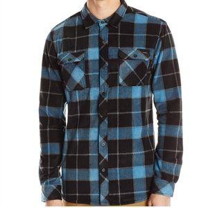 O'Neill Blue Plaid Fleece Button-Down Shirt